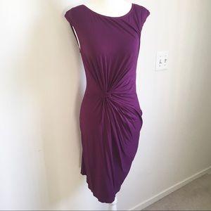 Max studio purple knotted dress